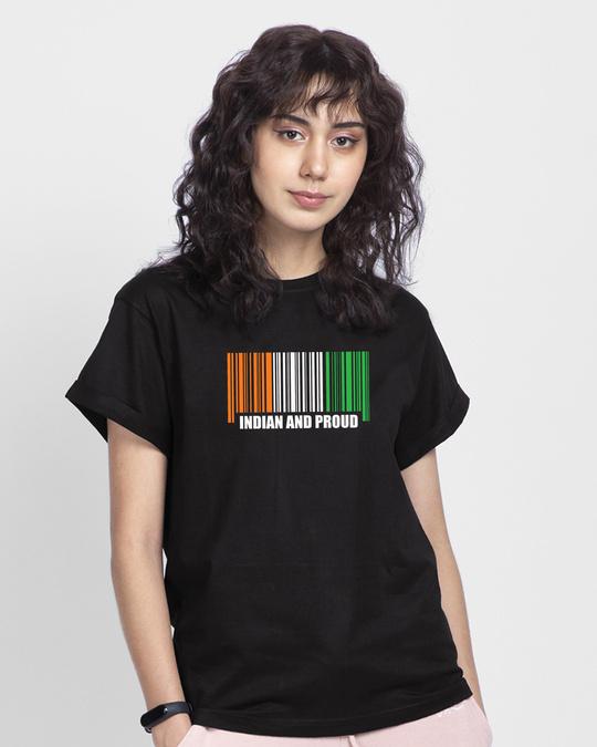 Shop Indian & Proud Women's Boyfriend T-Shirts-Back