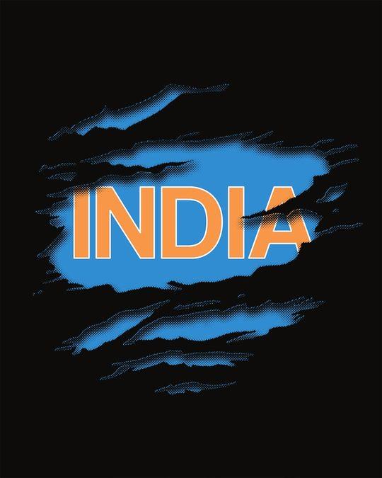 Shop Indian Blue Boyfriend T-Shirt