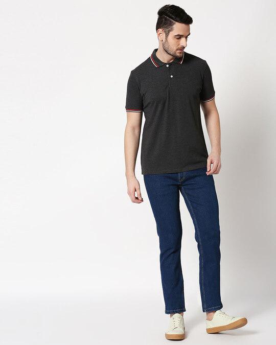Shop Indigo Denim Pants Mid Rise Stretchable Men's Jeans-Full