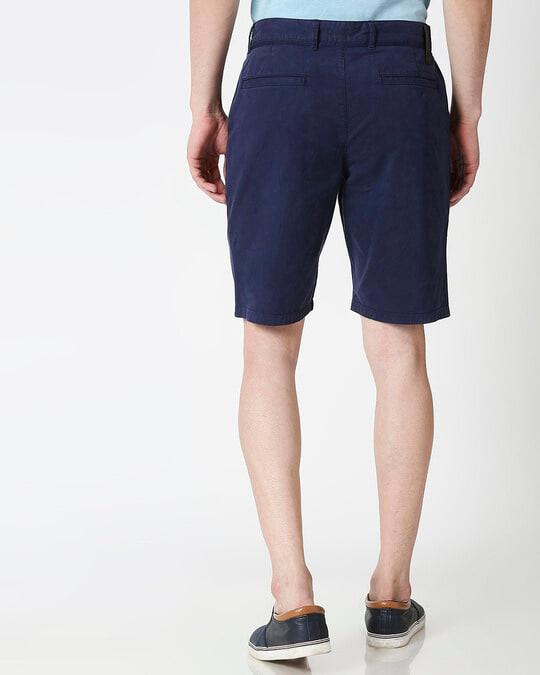 Shop Indigo Chino Shorts-Full