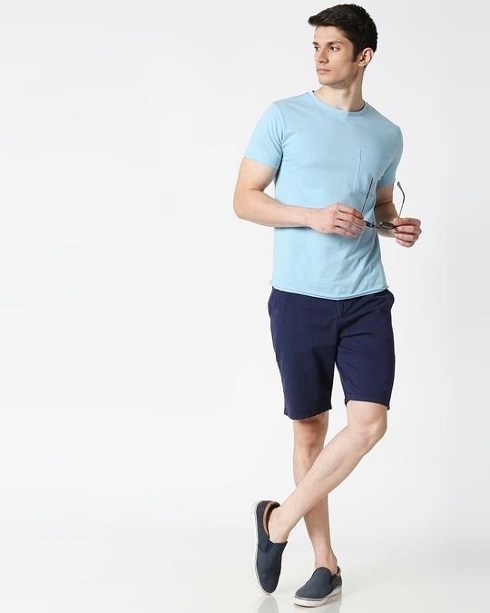 Shop Indigo Chino Shorts