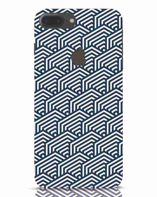 Shop Indigo Pattern iPhone 7 Plus Logo Cut Mobile Cover-Front