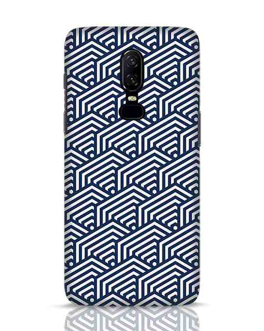 Shop Indigo Pattern OnePlus 6 Mobile Cover-Front