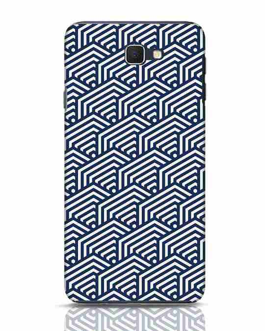 Shop Indigo Pattern Samsung Galaxy J7 Prime Mobile Cover-Front