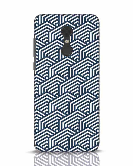 Shop Indigo Pattern Xiaomi Redmi Note 5 Mobile Cover-Front