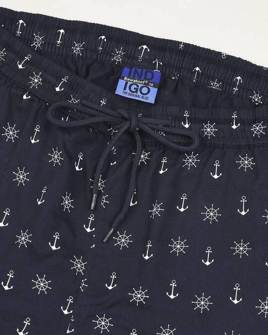 Shop Men's Indigo Printed Woven Shorts
