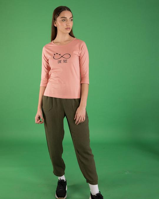 Shop Infinite Freedom Round Neck 3/4th Sleeve T-Shirt-Design