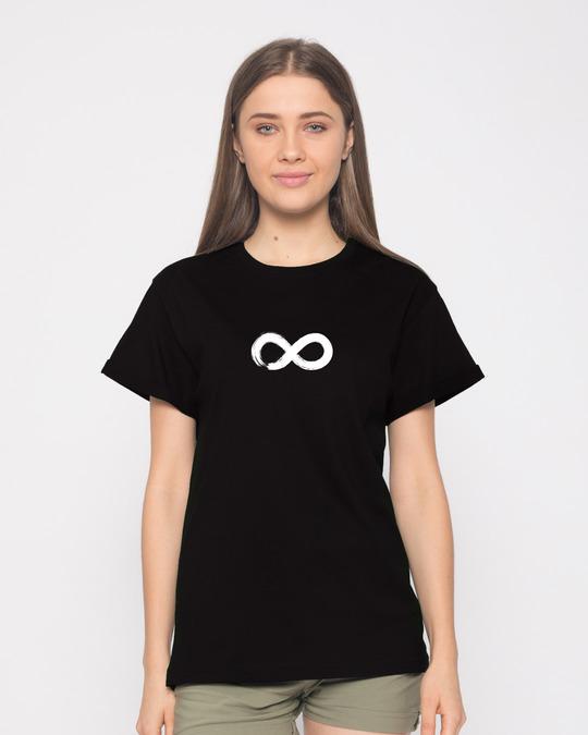Shop Infinity Boyfriend T-Shirt-Front
