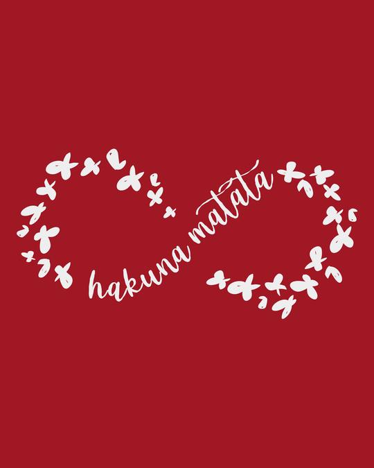 Shop Infinity Hakuna Matata Round Neck 3/4th Sleeve T-Shirt