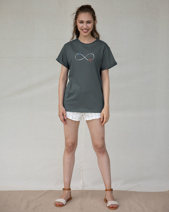 Shop Infinity Music Boyfriend T-Shirt-Full