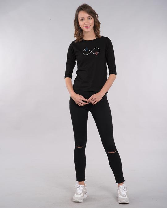 Shop Infinity Music Round Neck 3/4th Sleeve T-Shirt-Design