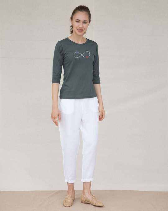 Shop Infinity Music Round Neck 3/4th Sleeve T-Shirt-Full