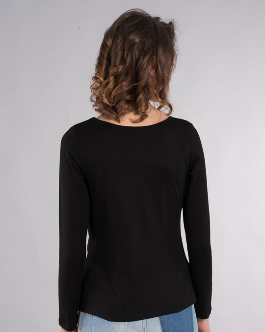 Shop Infinity Music Scoop Neck Full Sleeve T-Shirt-Back