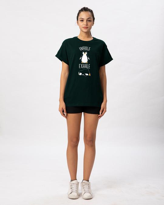 Shop Inhale Exhale Boyfriend T-Shirt