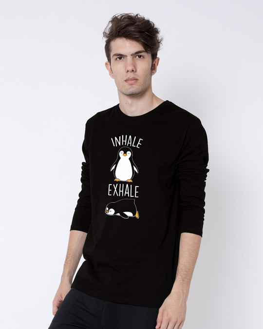 Shop Inhale Exhale Full Sleeve T-Shirt-Back