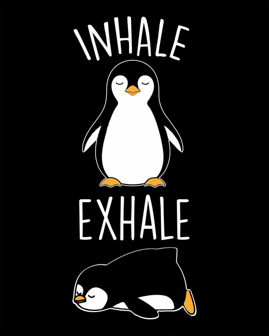 Shop Inhale Exhale Half Sleeve T-Shirt