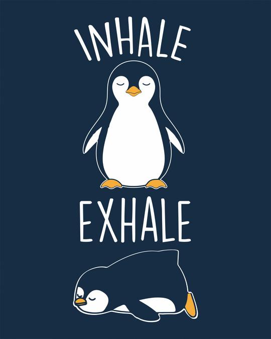 Shop Inhale Exhale Round Neck 3/4th Sleeve T-Shirt