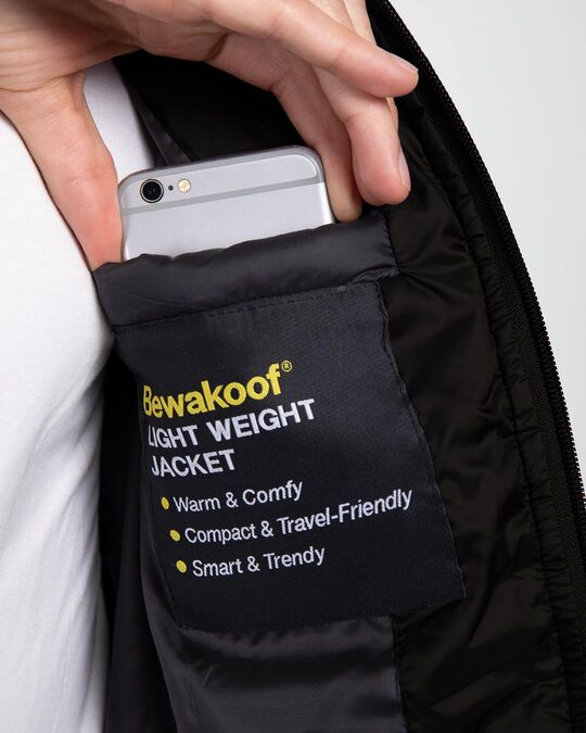 Shop Ink Black Sleeveless Puffer jacket