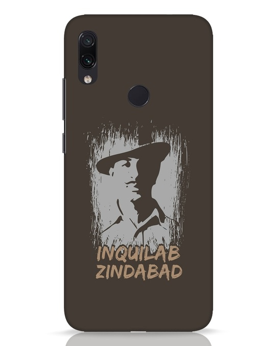 Shop Inquilab Xiaomi Redmi Note 7 Pro Mobile Cover-Front