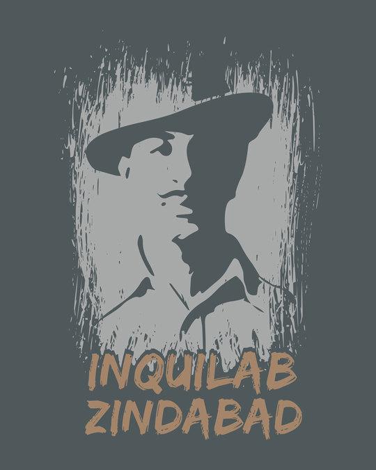 Shop Inquilab Zindabad Round Neck 3/4th Sleeve T-Shirt
