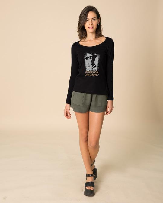 Shop Inquilab Zindabad Scoop Neck Full Sleeve T-Shirt-Design