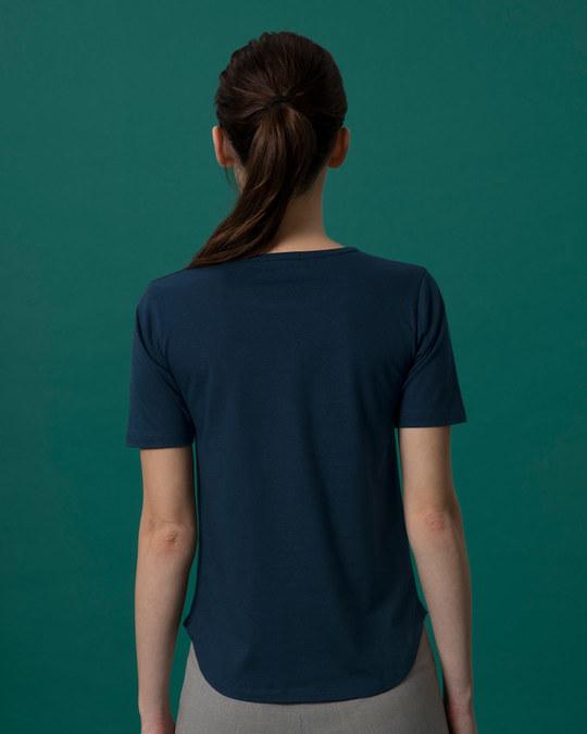 Shop Inspire Black Basic Round Hem T-Shirt-Full