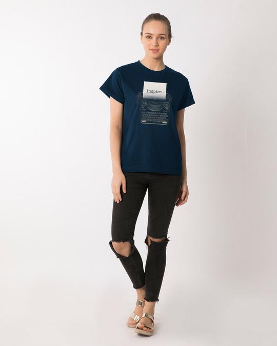 Shop Inspire Black Boyfriend T-Shirt
