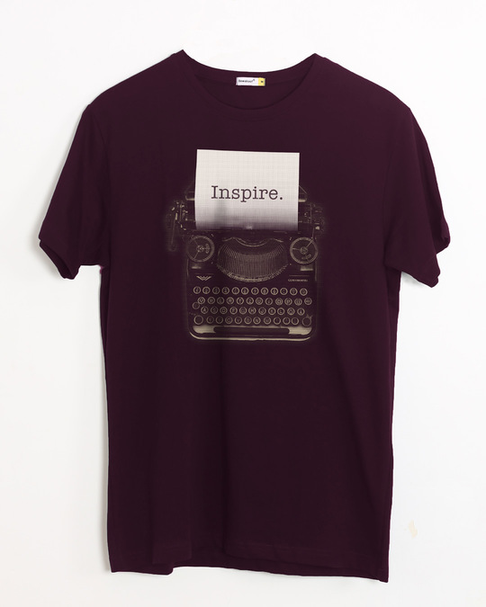 Shop Inspire Black Half Sleeve T-Shirt-Front