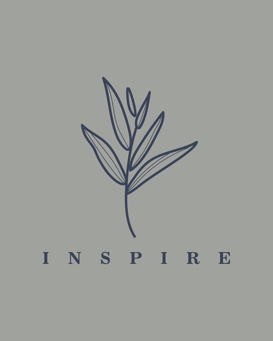 Shop Inspire Leaf Boyfriend T-Shirt Meteor Grey-Full