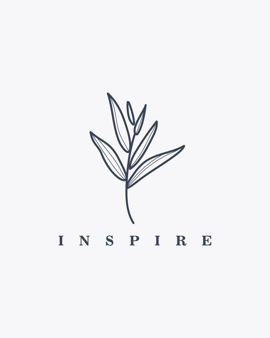 Shop Inspire Leaf Round Neck 3/4 Sleeve T-Shirts White-Full