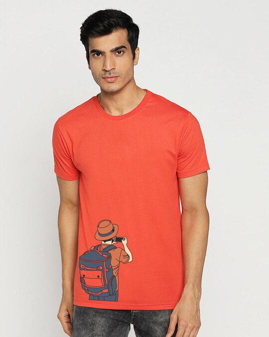 Shop Insta Story Half Sleeve T-Shirt Oxyfire-Back