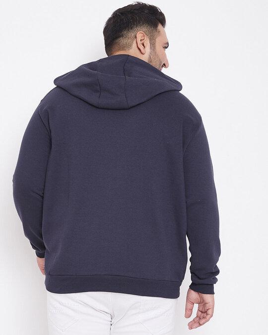 Shop Men Plus Size Solid Stylish Casual Winter Hooded Sweatshirts-Design