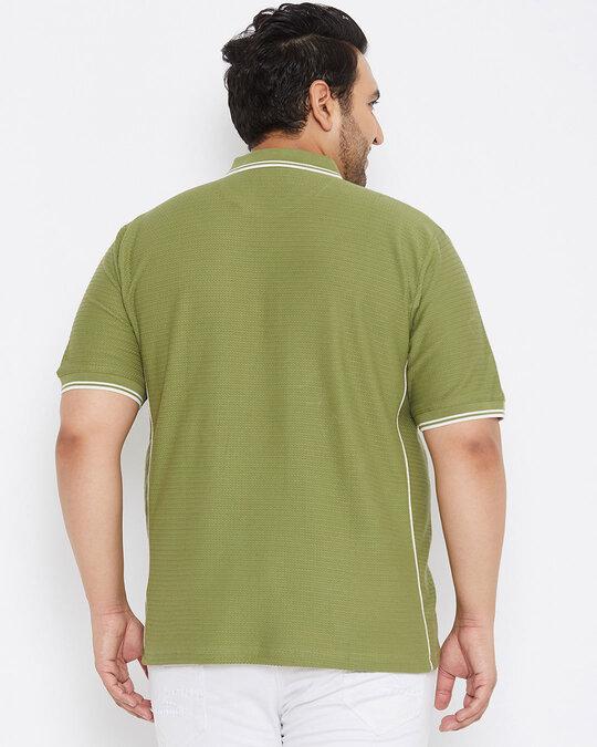 Shop Size Men Stylish Solid Half Sleeve Casual T Shirts-Full