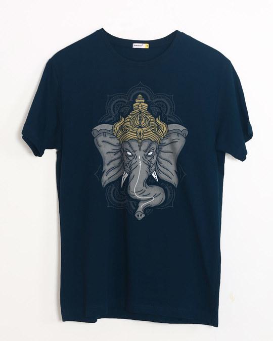 Shop Intense Ganesha Half Sleeve T-Shirt-Front