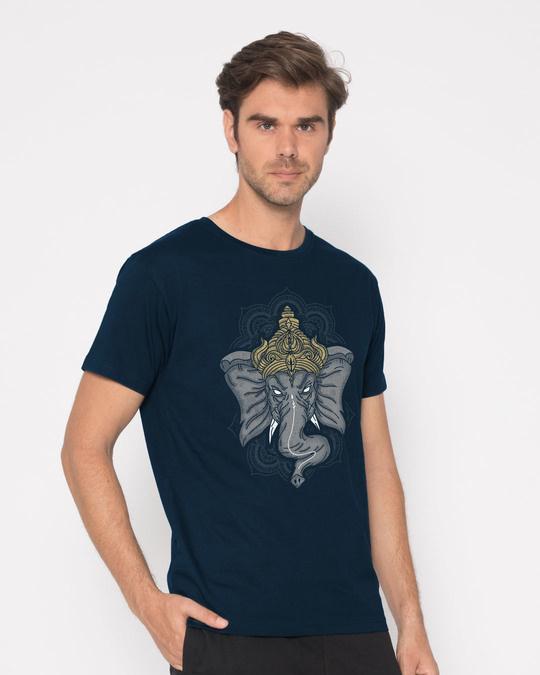 Shop Intense Ganesha Half Sleeve T-Shirt-Full