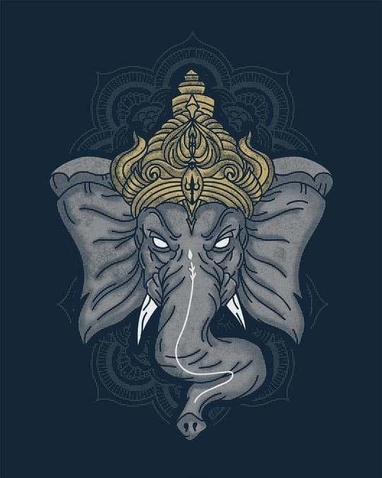 Shop Intense Ganesha Half Sleeve T-Shirt