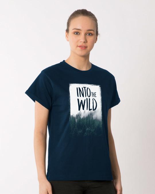 Shop Into The Wild Boyfriend T-Shirt-Back