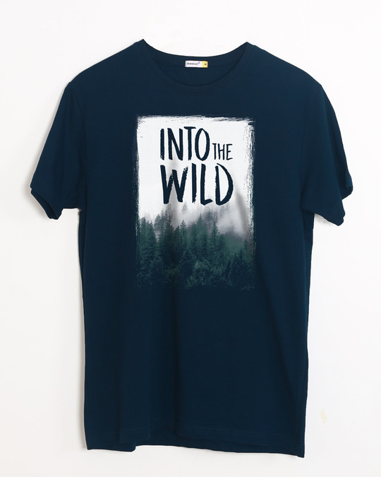 Shop Into The Wild Half Sleeve T-Shirt-Front