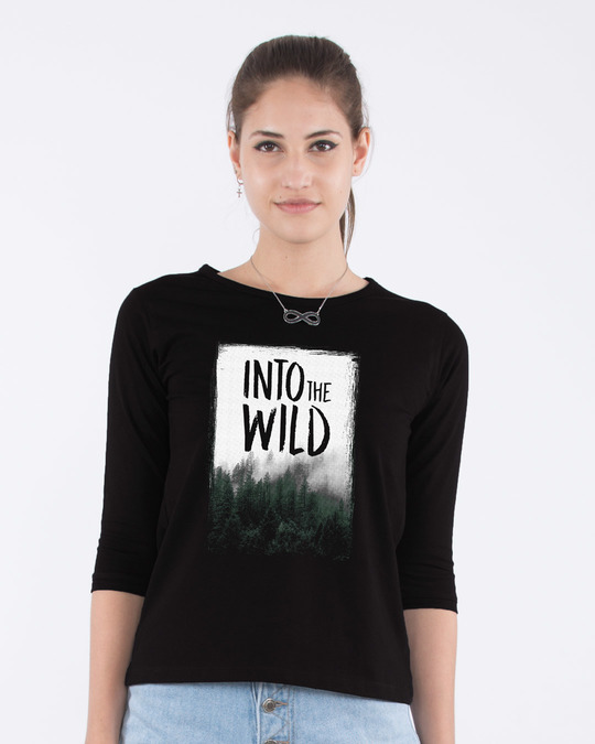 Shop Into The Wild Round Neck 3/4th Sleeve T-Shirt-Front