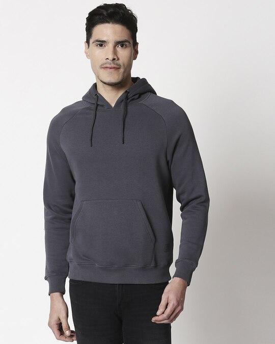 Shop Iron Gate Basic Hoodie Sweatshirt-Front