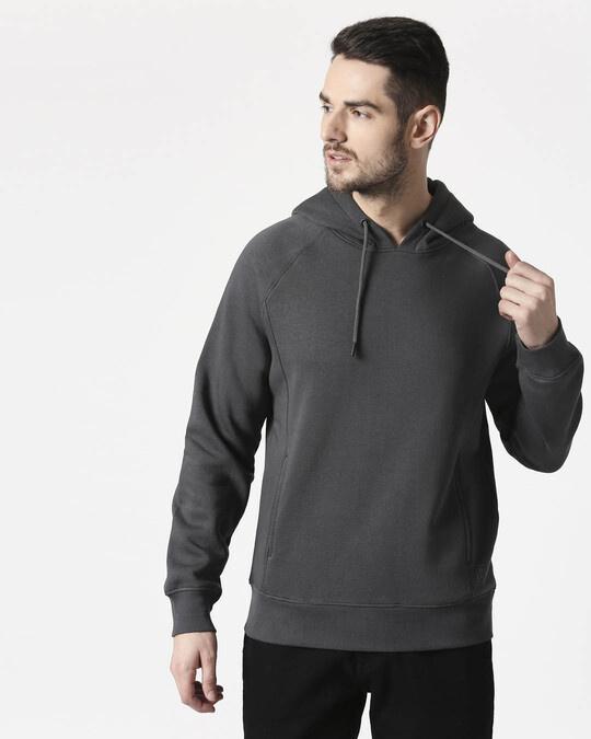 Shop Iron Gate Stylised Panel Hoodie Sweatshirt-Front