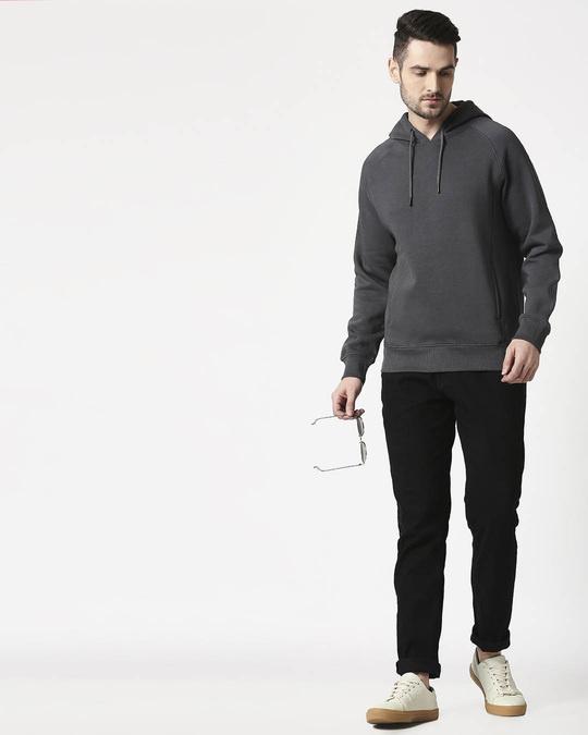 Shop Iron Gate Stylised Panel Hoodie Sweatshirt-Full