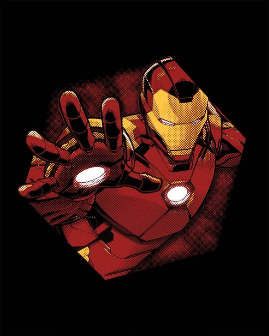 Shop Iron Man - Hexagon Boyfriend T-Shirt (AVL)