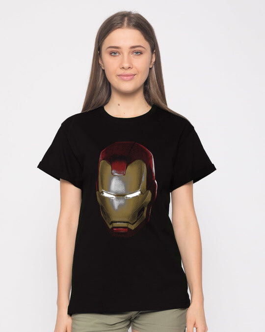 Shop Iron Man 3d Boyfriend T-Shirt (AVL)-Front