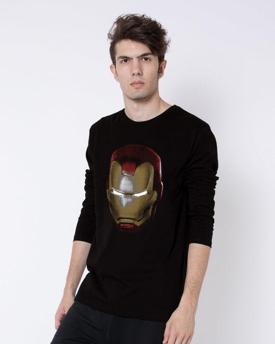 Shop Iron Man 3d Full Sleeve T-Shirt (AVL)-Back