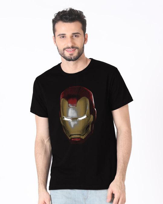 Shop Iron Man 3d Half Sleeve T-Shirt (AVL)-Back