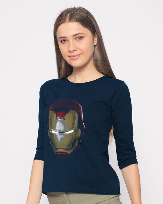 Shop Iron Man 3d Round Neck 3/4th Sleeve T-Shirt (AVL)-Back