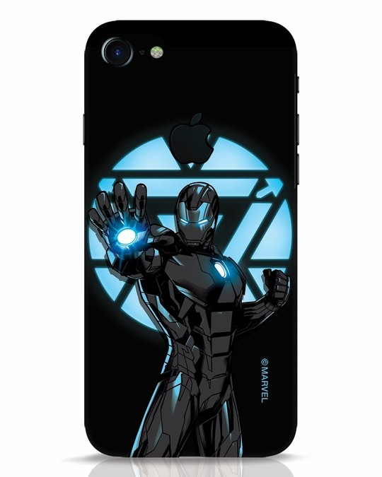 Shop Iron Man Attack iPhone 7 Logo Cut Mobile Cover-Front