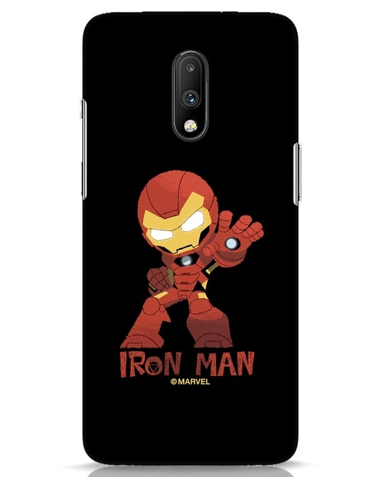 Shop Iron Man Chibi OnePlus 7 Mobile Cover (AVL)-Front