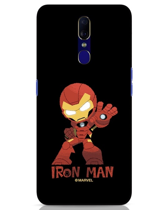 Shop Iron Man Chibi Oppo F11 Mobile Cover (AVL)-Front
